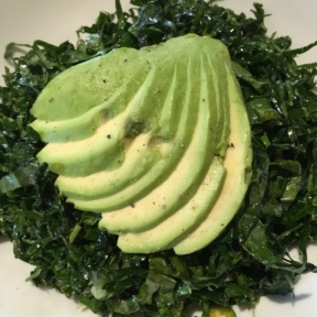 Gluten-free kale salad from South End in New Canaan