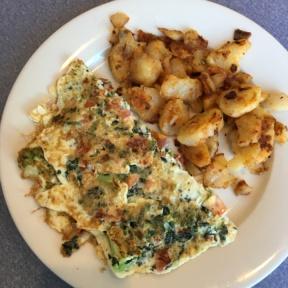 Gluten free omelette from Elm Street Diner
