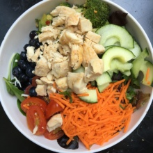 Gluten free salad with chicken from Sweet Green