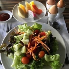 Breakfast spread from Majestic Grand Hotel Bangkok