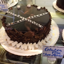 Gluten-free chocolate mousse cake from St. Moritz Pastry Shop