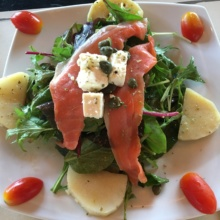 Smoked salmon salad by Wine Connection