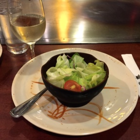 Gluten-free salad from Abis Japanese Restaurant