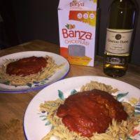 Gluten-free chickpea pasta from Banza