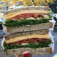 Gluten-free cheese sandwich from Barney Brown Sandwiches