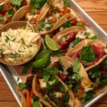 Spread of Gluten-free tacos from Bartaco