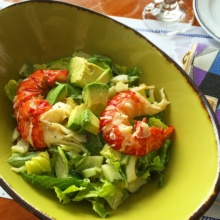 Gluten-free lobster salad from Belle Haven Club