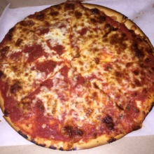 Gluten-free pizza from Bleecker Street Pizza