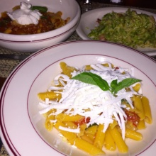 Gluten-free pastas and veggies from Bocca