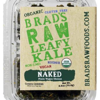 Gluten free, vegan, non-GMO, kosher kale chips by Brad's Raw Foods