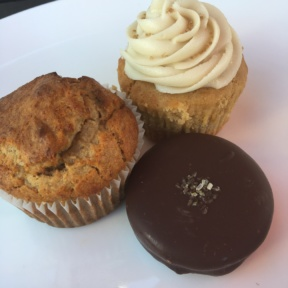 Gluten-free muffins, cupcake, and cookie from Breakaway Bakery