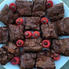 Gluten-free Brownies with Raspberries