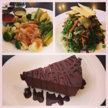Gluten-free salads and cake from Candle Cafe
