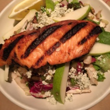 Gluten-free salmon salad from Centro