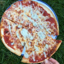 Gluten-free Cheese Pizza with Ranch Dressing