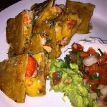 Gluten-free lobster quesadilla from Chef Luis
