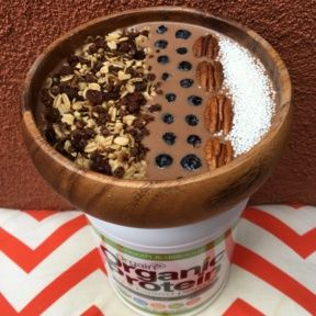 Gluten-free Chocolate Smoothie Bowl with Orgain