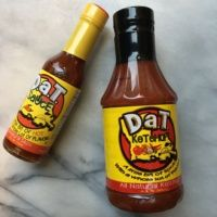 Gluten-free ketchup and hot sauce from D.a.T. Sauce