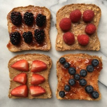Deconstructed Gluten-free PB&J with Berries
