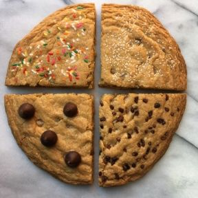 Gluten-free Decorated Chocolate Chip Cookie Cake