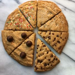Decorated Chocolate Chip Cookie Cake