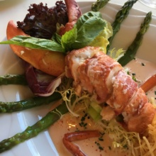 Gluten-free lobster salad from Homestead Inn