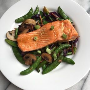 Honey-Soy Salmon and Stir-Fry Vegetables
