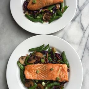 Gluten-free Honey-Soy Salmon and Stir-Fry Vegetables