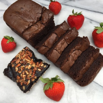 Gluten-free chocolate pound cake and brownie from Milk and Eggs