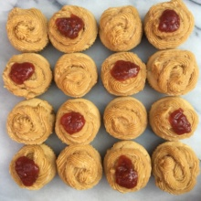 Gluten free almond butter and jam cupcakes