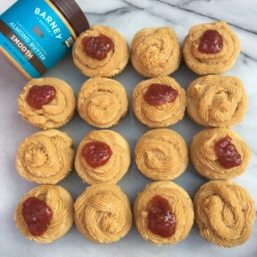 Gluten-free almond butter cupcakes with Barney Butter nut butter