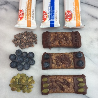 Chocolate dipped chewy bars from Enjoy Life Foods
