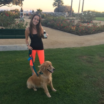 Jackie with her dog Odie and Chameleon Cold-Brew