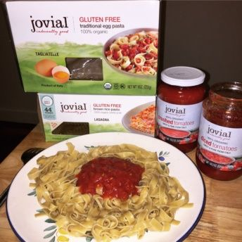 Gluten-free pasta and sauces from Jovial