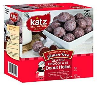 Gluten free chocolate donut holes from Katz Gluten Free