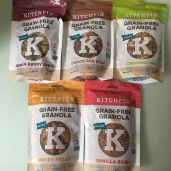 5 flavors of gluten-free granola from KitchFix