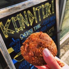 Gluten-free pumpkin muffin from Konditori