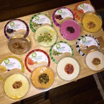 A spread of gluten-free hummus from Lantana Foods