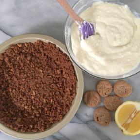 Making a gluten-free Gluten-free Lemon Icebox Pie