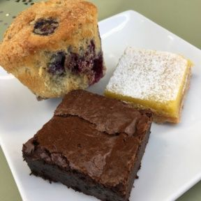 Gluten-free muffins, brownies, and bars from Lilac Patisserie