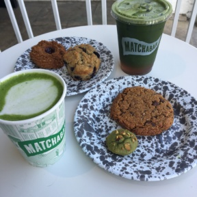 Gluten-free matcha drinks and baked goods from MatchaBar