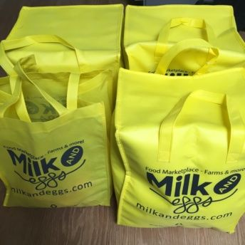 Milk and Eggs farm fresh bags