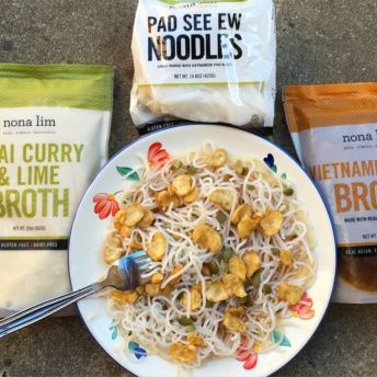 Gluten-free noodles and broth from Nona Lim