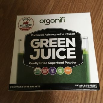 Gluten-free green juice from Organifi