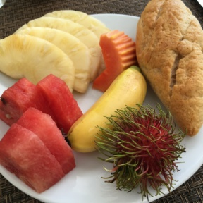 Gluten-free breakfast plate from Palm Grove at Centara Grand