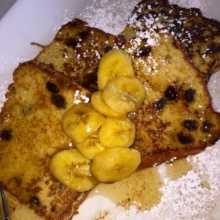 Gluten-free French toast from Peacock Cafe