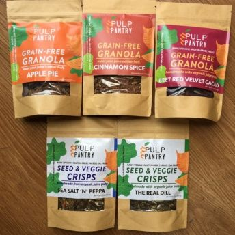 Gluten-free grain free granola & crisps from Pulp Pantry