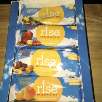 Gluten-free breakfast bars from Rise Bar