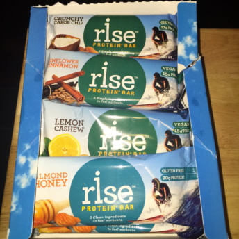 Gluten-free bars from Rise Bar