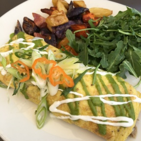 Gluten-free omelette from Root Down